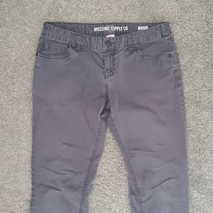 Mossimo Supply Grey Skinny Jeans Size 9